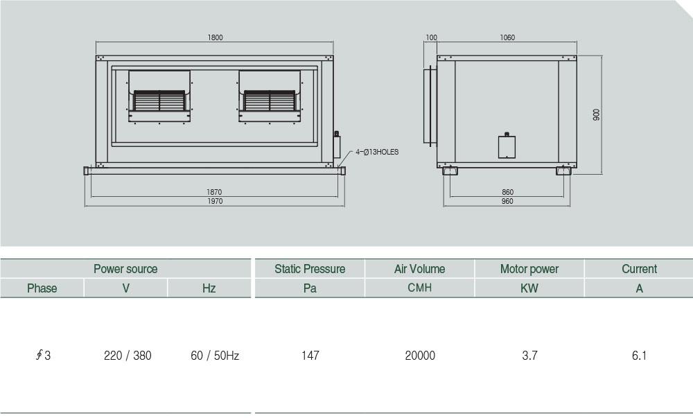 ASHF-20000 (V-BELT) Technical data